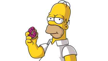 Simpson mange des donuts
