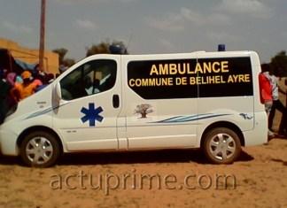 Cérémonie de réception des ambulances de Kamb
