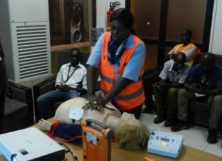 Contrôle médical à l'Aeroport L.S.S. de Dakar