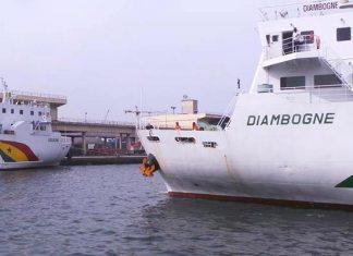 """Les navires """"Aguène"""" et """"Diambogne"""" en révision"""