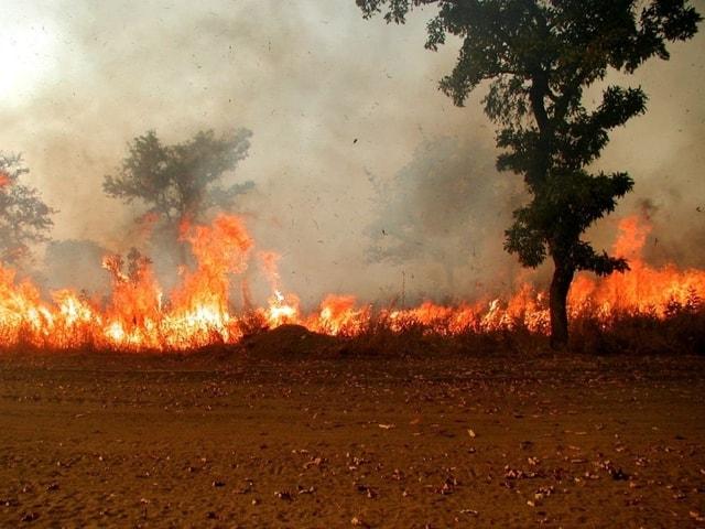 Le Ranch de Dolly en feu