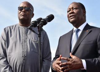Les président ivoirien et burkinabé