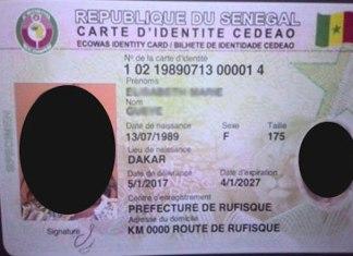 La carte d'identité biométrique
