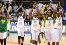 L'équipe féminine de basket du Sénégal