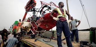 Crash d'un hélicoptère à Abidjan
