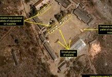 Pose dans les sites nucléaires et arrêt des tirs de missiles en Corée du Nord