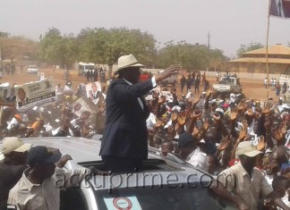 Macky Sall en campagne à Kédougou