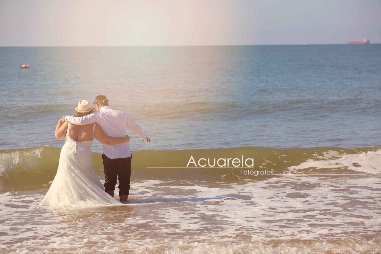 Cruzando el Guadalquivir. Boda de Mario y Maribel
