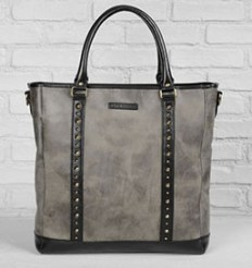 John Varvatos  Studded Tote  - Nothing says rockstar status quite like this distressed leather tote bag complete with unique, edgy stud detailign