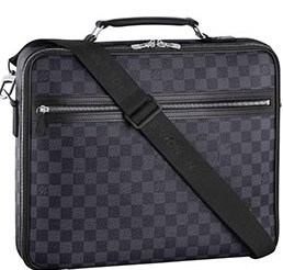 Louis Vuitton  Steeve-DAMIER-GRAPHITE  - Understated yet elegant. Stylish yet functional. Business or pleasure. That is the sheer versatility of the Steeve. And of course if is pleasing in Damier Graphite canvas £1,440