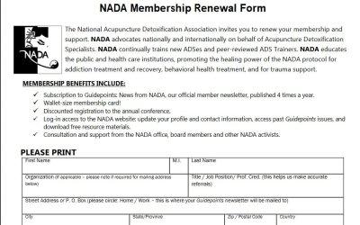 NADA Membership Renewal Form