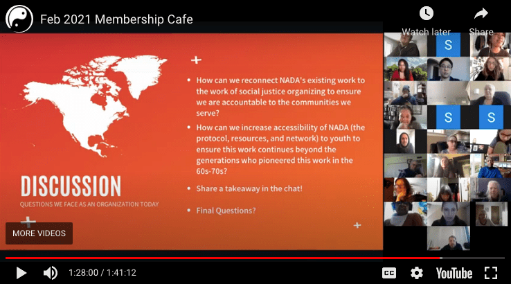 February 2021 Membership Cafe (Recording)