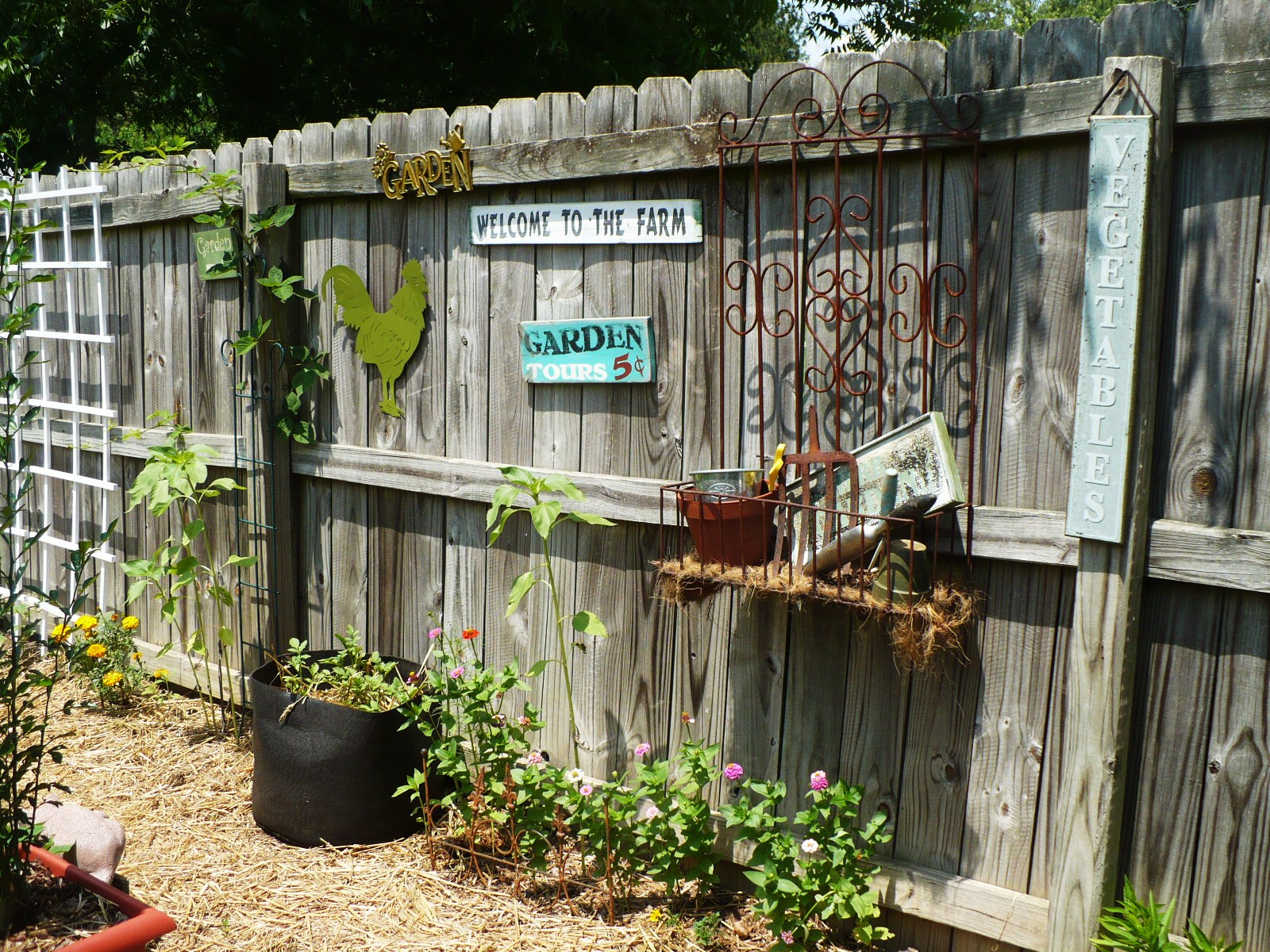On The Fence - A Cultivated Nest on Backyard Wooden Fence Decorating Ideas id=77573