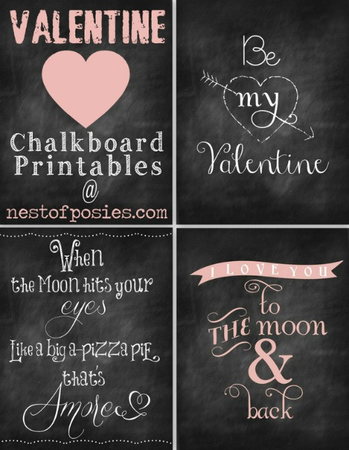 20 Free Valentine Printable Signs via Mandy's Party Printables by Nest of Posies