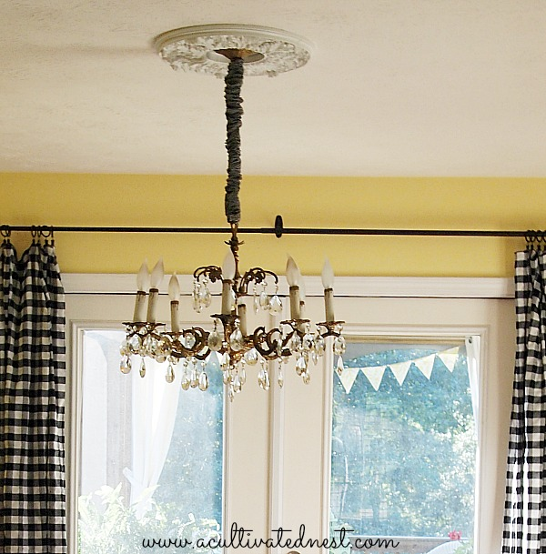 A Cultivated Nest Glam Up Your Light Fixture With Ceiling Medallion This One