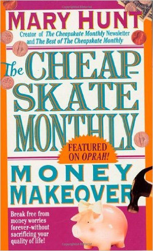 Cheapskate Monthly Money Makeover- Top 10 Frugal Living Books- Want to change your finances? Then you need to read the right books! These 10 frugal living books will help you get control of your money! These make great gifts for college students, teenagers, and anyone wanting to improve their finances! | #saveMoney #frugal #ACultivatedNest