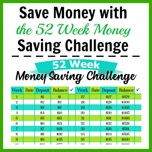 Save Money with the 52 Week Money Saving Challenge- If you want to save money the easy (and fun) way, then you need to do the 52 week money saving challenge! Use my free printable worksheet to get started! | save money, frugal living, personal finance, printable savings chart, #freePrintable #moneySavingTips #ACultivatedNest
