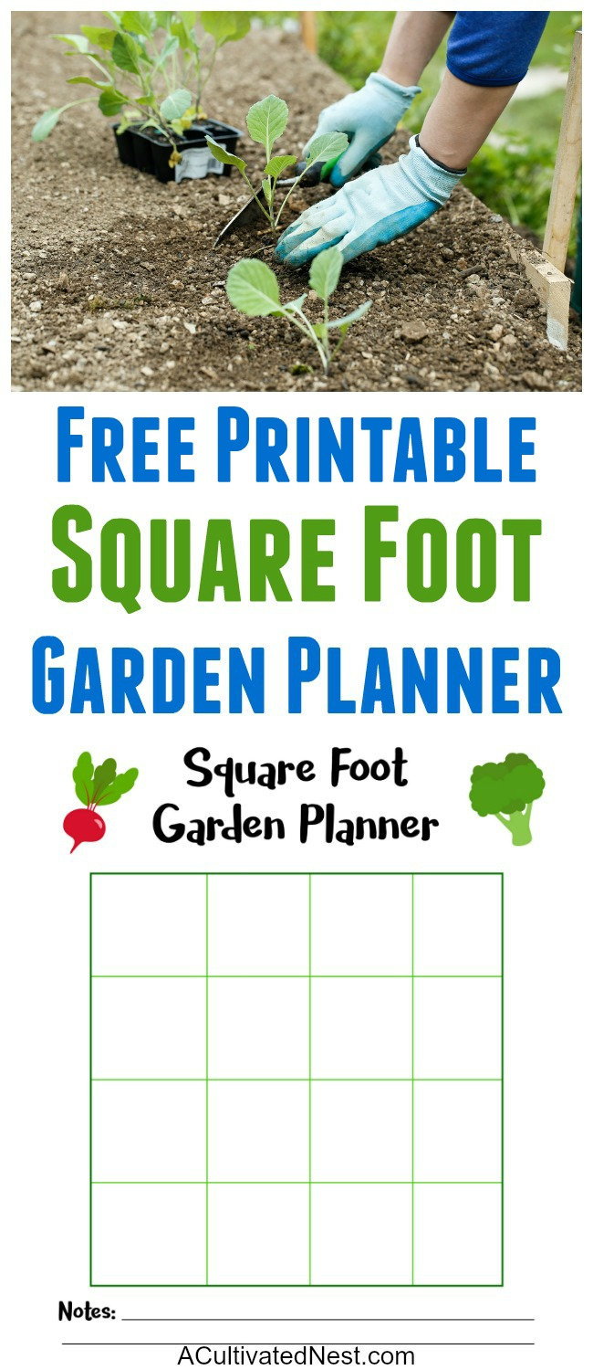 Free Square Foot Garden Planner Printable- A Cultivated Nest on Patio Planner id=69086