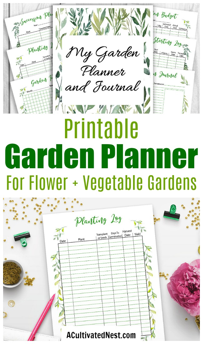 Printable Garden Planner and Journal- A Cultivated Nest on Patio Planner id=17432
