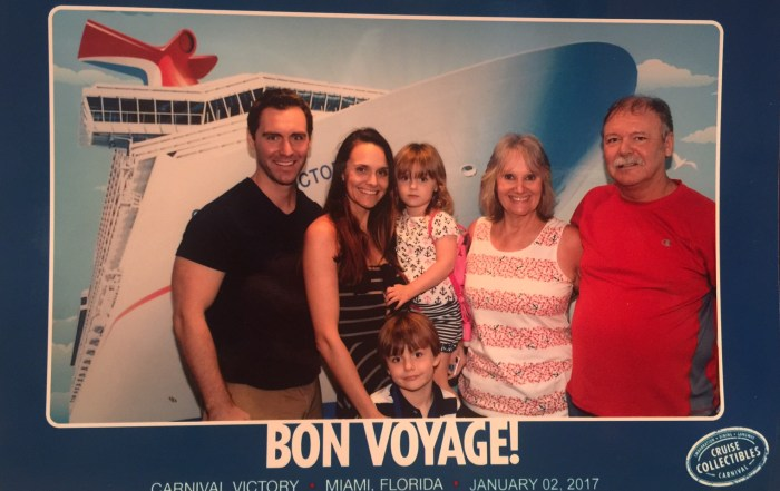 Carnival family cruise aboard the Carnival Victory