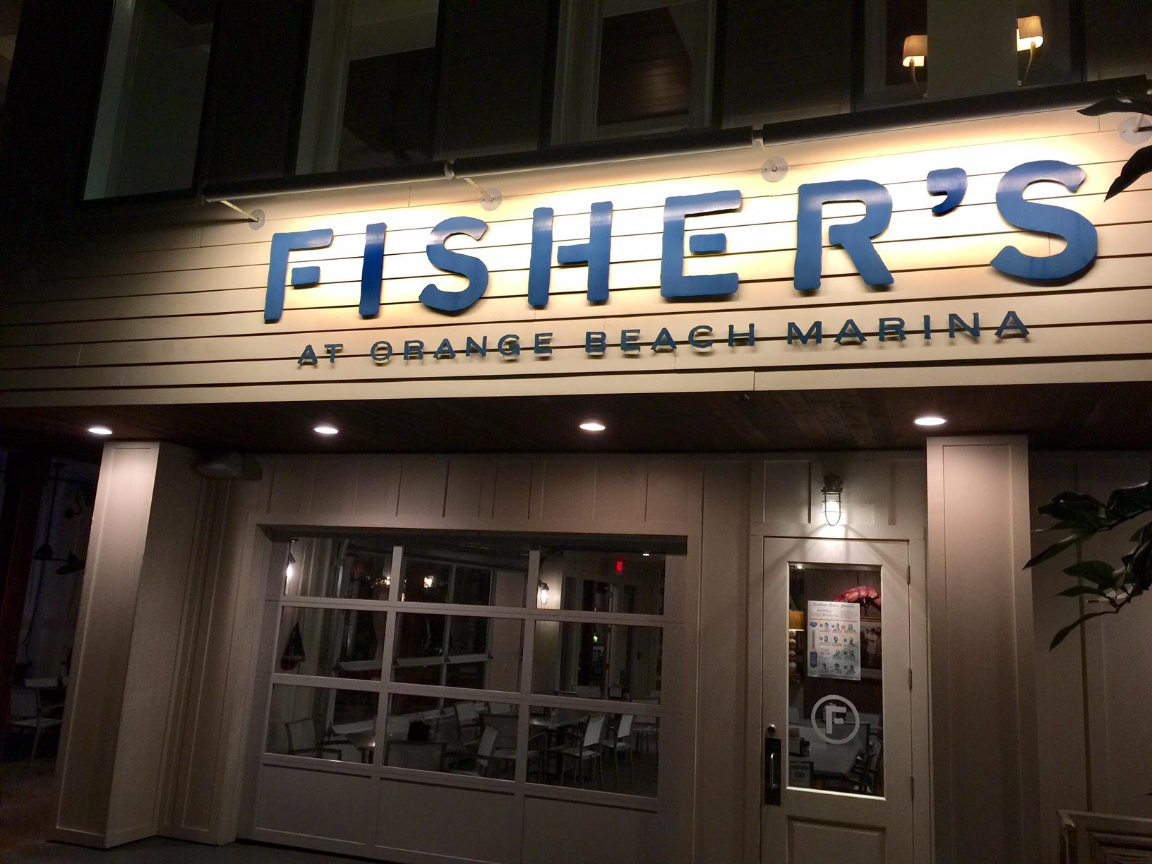 Fishers Restaurant Orange Beach Menu