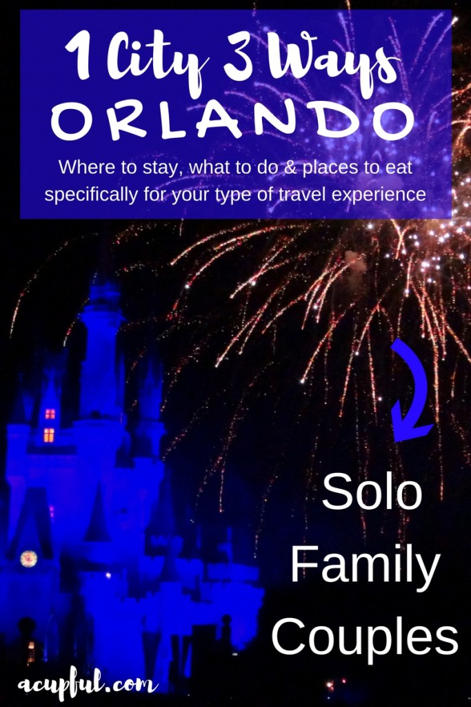 Visiting Orlando tips as a solo traveler | Family travel Orlando | Orlando couples getaway | Acupful.com | Mandy Carter travel blogger