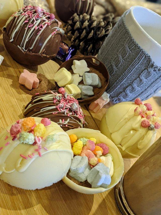 homemade hot chocolate bombs