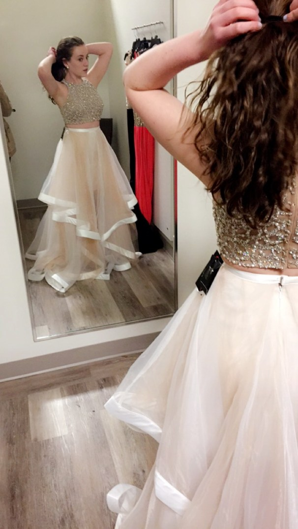 First Trying on the Dress- Taken by Maria