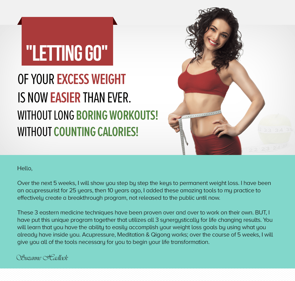 """Letting Go"" Of Your Excess Weight Forever!"