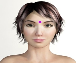 Pressure Points above the eyebrows