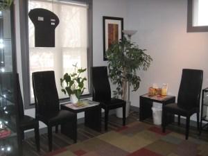 Acupuncture Edmonton waiting area.