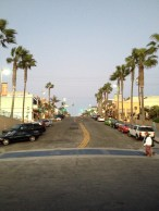 October 29 looking east on Manhattan Beach Blvd. from the pier.