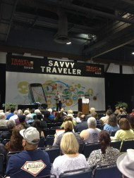 Angel Castellanos tells the audience how to Travel Smart and Pack Right