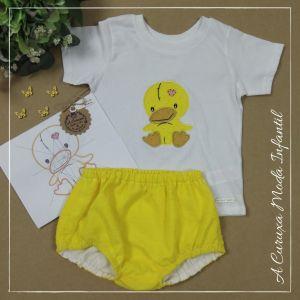 """Conjunto cubrepañal y camiseta """"Cute Duck"""""""
