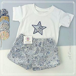 """camiseta y pantalón corto Liberty """"Estrellas"""""""
