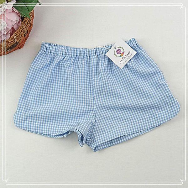 Pantalón corto Vichy