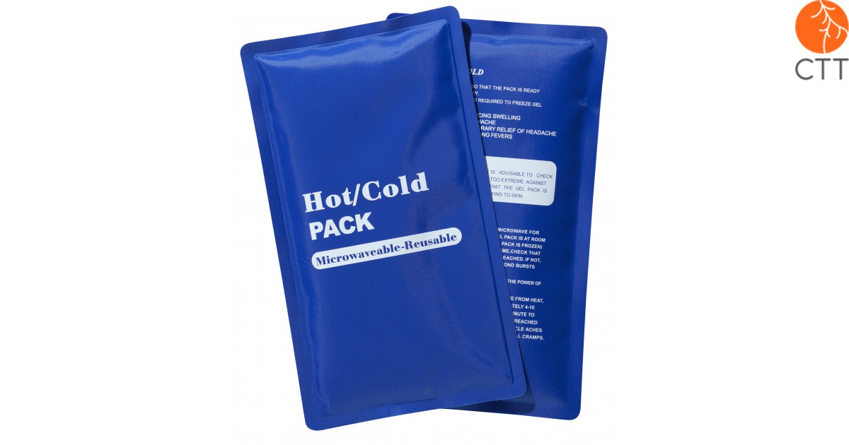 cold hot reusable pack blue 23 x 13cm with textile