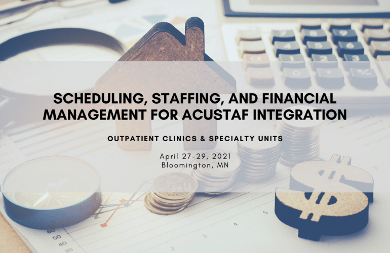 Staffing, Scheduling, and Financial Management Training Course