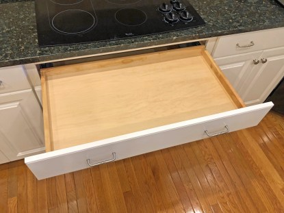 Drawer added beneath cook top