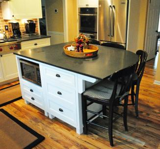 White island soapstone top