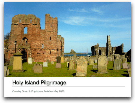 Lindisfarne Pilgrimage photobook - click for 16Mb pdf download