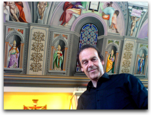 Gary Bevans under the Sistine Chapel