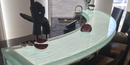 Custom In-Door Glass Bar Top - A Cutting Edge Glass Las Vegas, Nevada