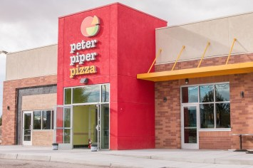 Front Commercial Glass Storefront for Peter Piper Pizza of Las Vegas, Nevada