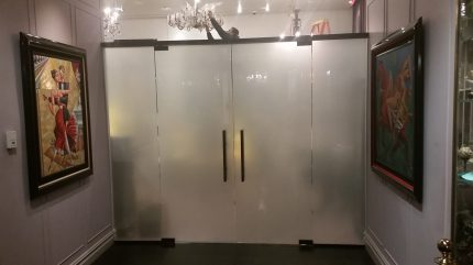 Custom Glass Double Door and Wall System