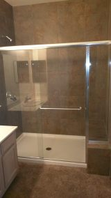 Shower Door Enclosure with Chrome Hardware and Clear Glass