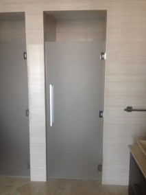 Satin Etched Glass Shower Door Enclosure System