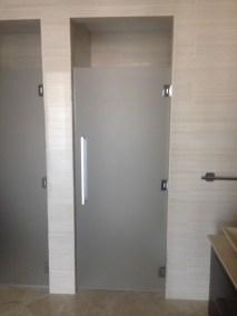 Satin Etched Glass Shower Door Enclosure System
