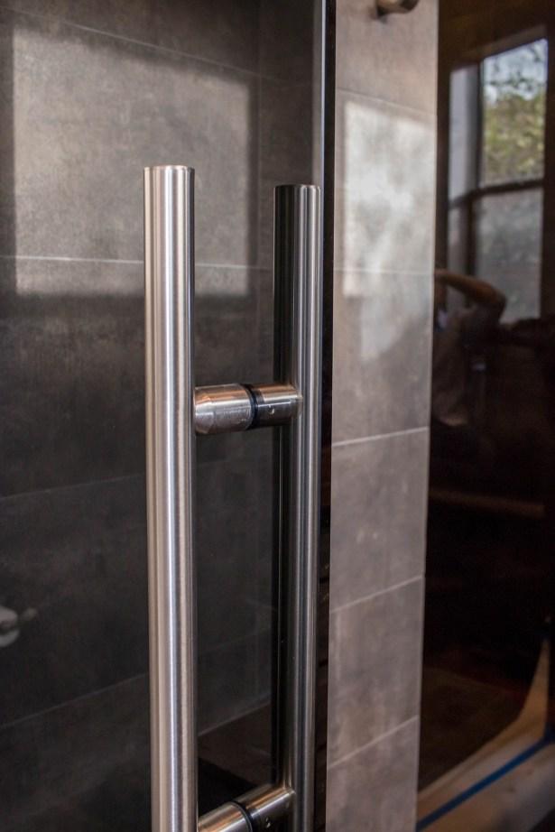 Shower Door Handle Close-up