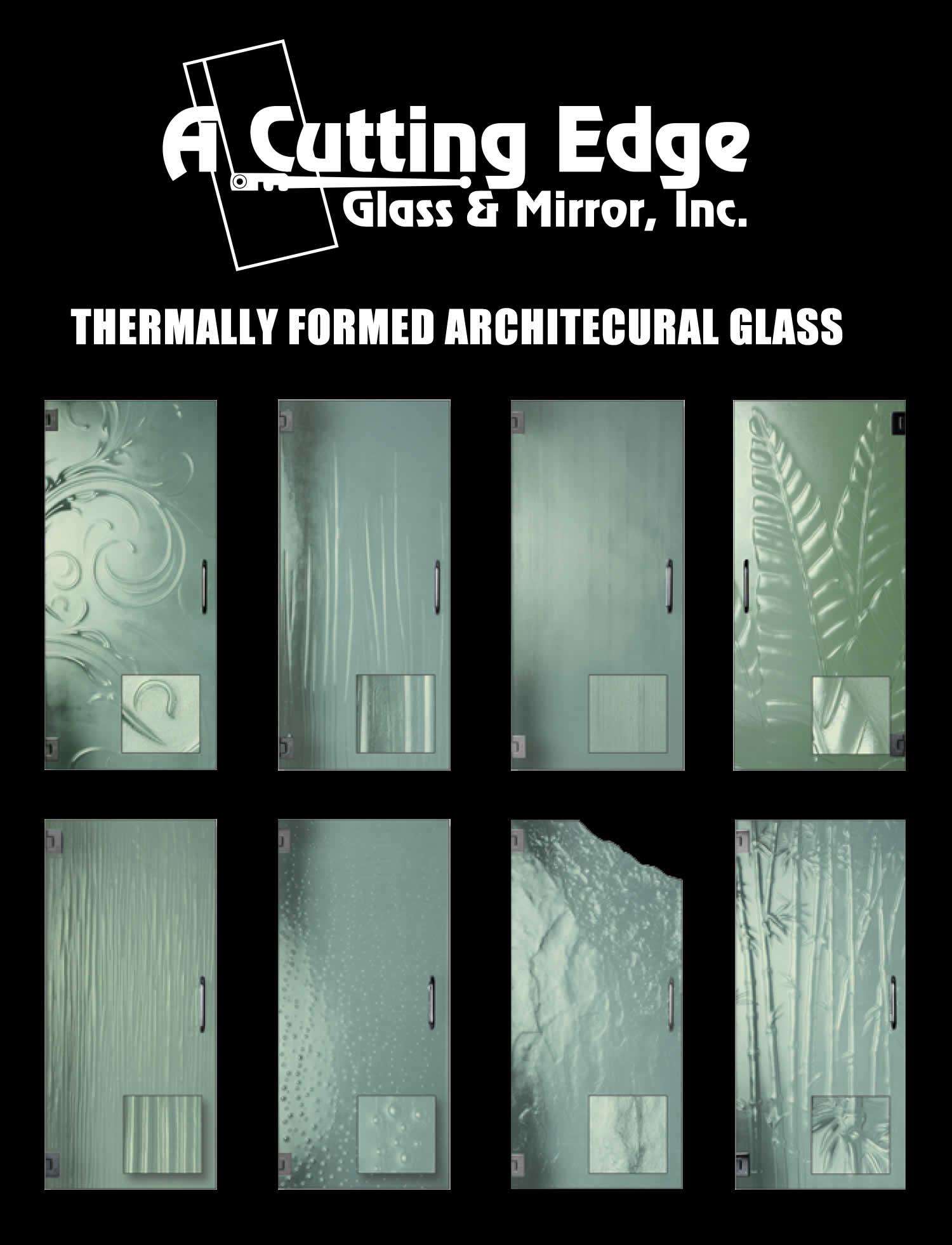 Glass door ups store - Thermally Formed Custom Glass Door Designs